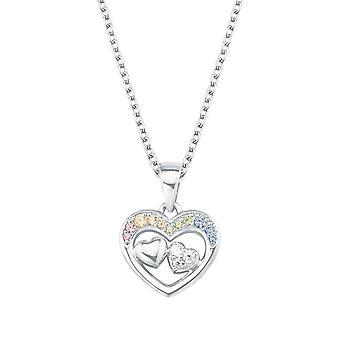 Princess Lillifee Kids Kids Necklace Silver Heart Zirconia Girl 2027905