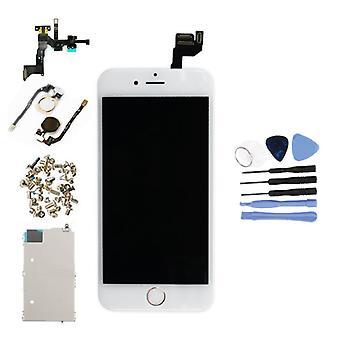 الاشياء المعتمدة® اي فون 6S 4.7 & اقتباس وشاشة قبل تجميعها (شاشة تعمل باللمس + LCD + أجزاء) AA + الجودة - الأبيض + الأدوات