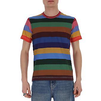Comme Des Garçons Shirt S281061 Men's Multicolor Cotton T-shirt