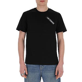 Les Hommes Lit101703u9000 Men's Black Cotton T-shirt