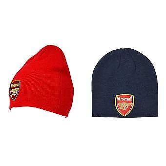 Arsenal FC Adults Unisex Knitted Beanie Hat