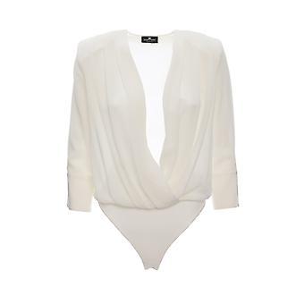 Elisabetta Franchi Cb07696e3360 Women's White Viscose Bodysuit