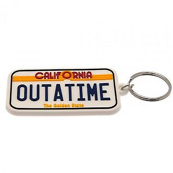 Back To The Future License Plate Keyring