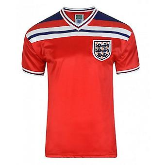 Official England Football Men's Adult 1982 World Cup Retro Away Shirt | 3XL Red