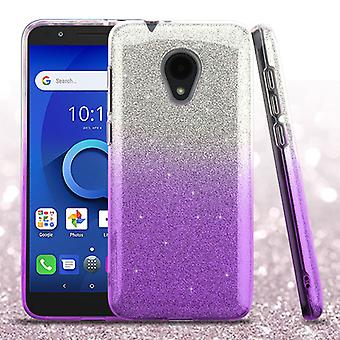 ASMYNA Hybrid Case pour Alcatel 5059R/1X Evolve/Avalon V - Purple Gradient Glitter