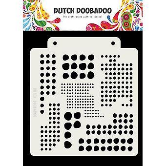 Hollantilainen Doobadoo Hollantilainen Naamio Art Blobs 163x148mm 470.715.138