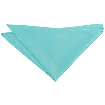 Tiffany Green Plain Shantung Pocket Square