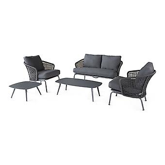Beach7 | Latice 5-delige loungeset |  Dark Grey | loungesets