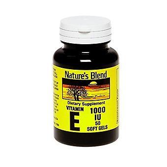 Nature's blend vitamin, e 1000 iu, softgels, 50 ea