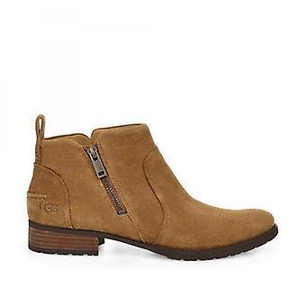 UGG Aureo Ii Ladies Suede Ankle Boots Chestnut