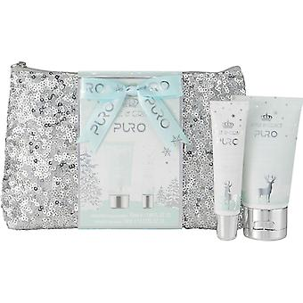 Style & Grace Puro Sequin Bag Gift Set - 50ml Hand Lotion and 10ml Gloss and Bag