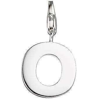 Ladies Mount Charm Letter O 925 Sterling Silver Pendant for Charm Bracelet