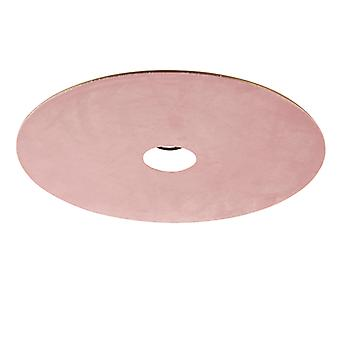 QAZQA Velor flat lamp shade pink with gold 45 cm
