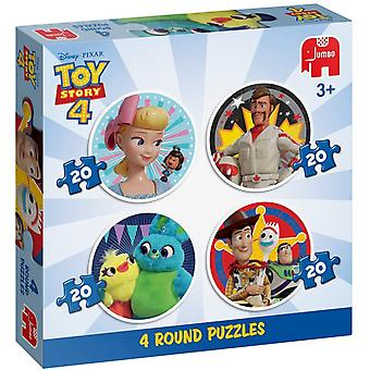 Toy Story 4 4 In 1 Round Puzzle