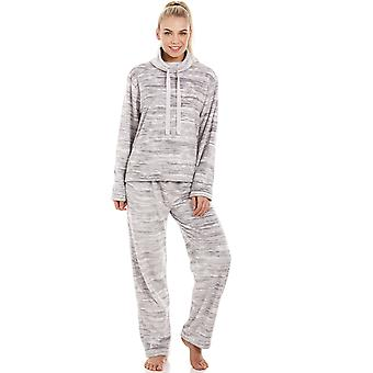 Camille gesprenkelt grau Supersoft Fleece Pyjama Set