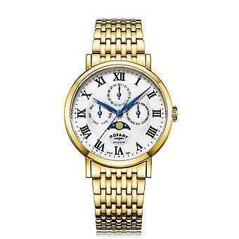 Reloj de pulsera multifunción Rotary GB05328-01 Windsor