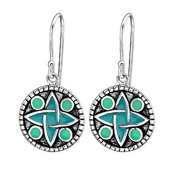 Round - 925 Sterling Silver Plain Earrings - W25881x