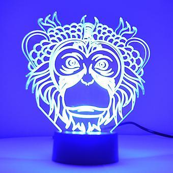 Monkey Face Colour Changing LED Mini Acrylic Light