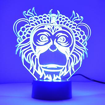Monkey Face farge skiftende LED mini akryl lys