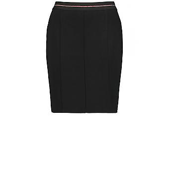 Taifun Black Fitted Jersey Skirt