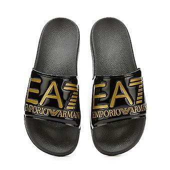 EA7 Emporio Armani Ea7 | Emporio Armani Xcp001 Xcc22 Visibility Sea World Shiny Flip Flop Sliders
