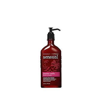 Bath & Body Works Aromatherapy Sensual Jasmine Vanilla Body Lotion 6.5 oz / 192 ml (Pack of 2)