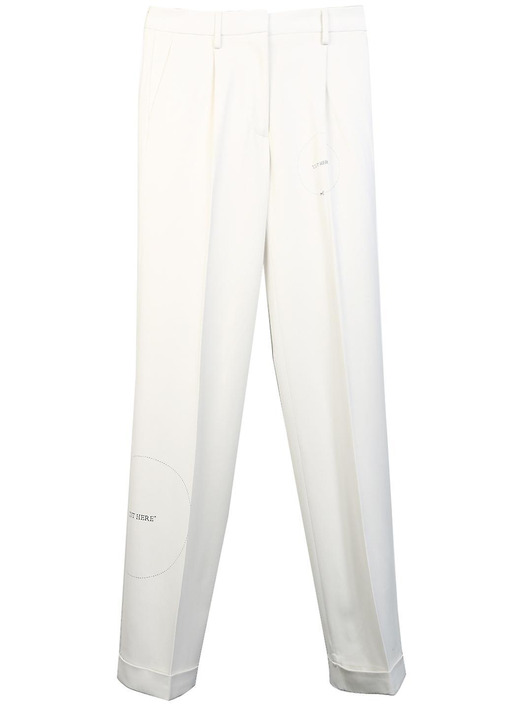 Off-blanc Owca102s20fab0040100 Pantalons Viscose blancs mqiI2i