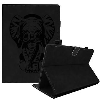 Elephant Flip Folio Case with Card Slots & Kickstand for 10 inch Tablet- Black