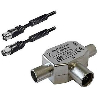 BKL Electronic Antennas, SAT Cable [1x Belling-Lee/IEC plug 75Ω - 1x Belling-Lee/IEC socket 75Ω] 2.00 m Black