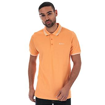 Men's Ben Sherman Twin Tipped Polo Shirt in Pink