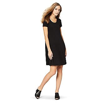 Daily Ritual Women's Pima Cotton and Modal Short-Sleeve, Black, Size XX-Large