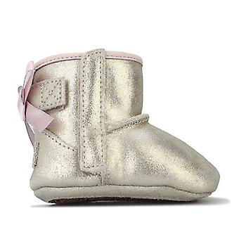 Girl's Ugg Australia Infant Jesse Bow Metallic Boots in Gold