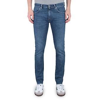 Edwin ED-85 Slim Tapered Drop Crotch 12.9 Oz CS Yuuki Blue Tsukiya Wash Denim Jeans