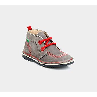 كيكرز Adlar البوب Suede ايم الرضع الرمادي / الأحمر 113108 أحذية الأحذية