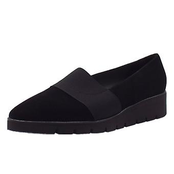 Peter Kaiser Nona Comfortable Wide Fitting Shoe In Black Suede