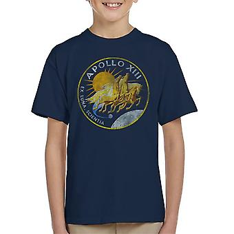 NASA Apollo 13 Mission Badge Distressed Kid's T-Shirt