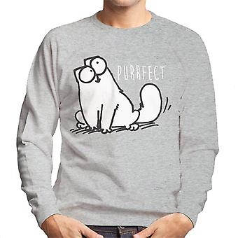 Simon's Cat Purrfect Men's Sweatshirt