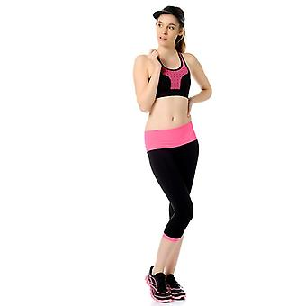 Jerf  Womens Patras  Black Pink Seamless Active Tight