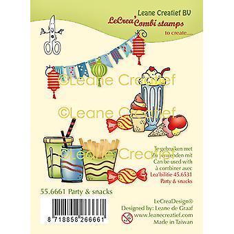 Leane Creatief Party & Snacks klare frimærker