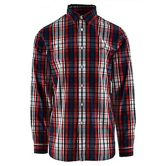 Lacoste Long-Sleeved Red Check Shirt
