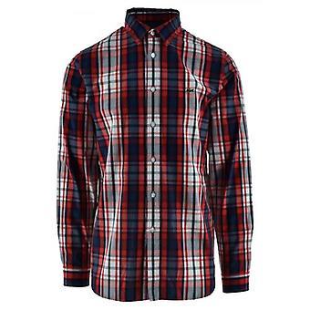 Lacoste langærmet rød check skjorte