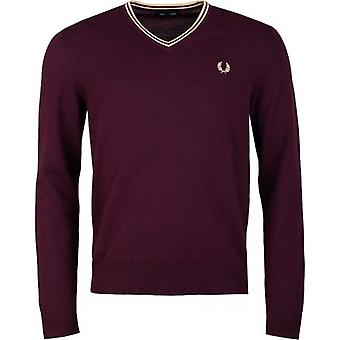 Fred Perry Authentics Classic V Neck Jumper