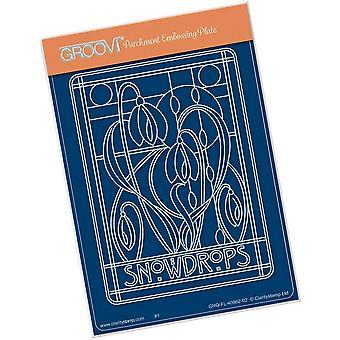 Groovi Art Nouveau Snowdrops A6 Groovi Plate