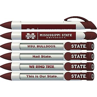20536, Greeting Pen Mississippi State Bulldogs Braggin-apos; Rights Rotating Message 6 Pen Set 20536