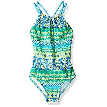Kanu Surf Big Girls' Jasmine Beach Sport Halter One Piece Badedragt, Mahina Gr...