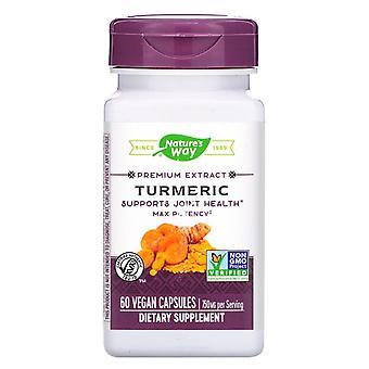 Natur's Sätt, Premium Extrakt, Gurkmeja, 750 mg, 60 Vegan kapslar