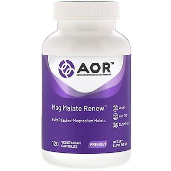 Advanced Orthomolecular Research AOR, Mag Malate Renew, 120 Capsules végétariennes