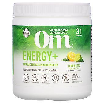Om Mushrooms, Energy+, Powered by Cordyceps + Yerba Mate Powder, Lemon Lime, 2,0