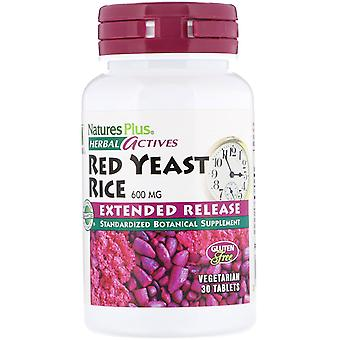 Nature's Plus, Herbal Actives, Red Yeast Rice, 600 mg, 30 Compresse