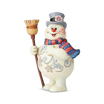 Jim Shore Frosty The Snowman With Broom Statue Figurine